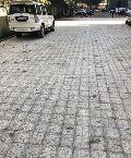 Concrete cobble pavers