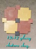 Glossy Chatura Chequered Tiles