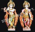 Multicolored Marble Radha Krishna Statue