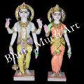 Marble Vishnu Laxmi Statues 1