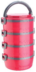 Jayco Homemeal Four Case Pink Tiffin Box