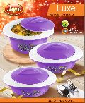 Jayco Luxe Three Piece Purple Casserole Set