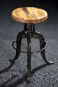 Wooden and Metal Stools