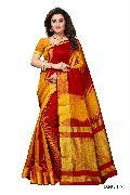 Printed Kalamkari Silk Saree
