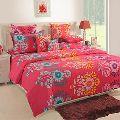 Swayam 120 TC Cotton Red Double Bedsheet Set