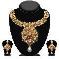 White Stone Kundan Necklace Set