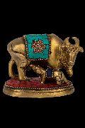 Brass Calf Showpiece