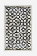 Bone Inlay Geometric  Design Black and White Tray