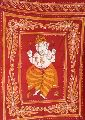 Ganesha Batik Tapestry Bed Cover