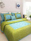 Green Colour Geometric PrintsBedsheetcotton bedsheetjaipuri bedsheet
