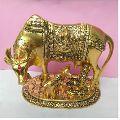 Golden Aluminium Cow Statue