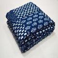 Patchwork Kantha Blue Baby Quilt