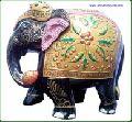 INDIAN WOODEN DECORATIVE FIGURE VERY FINE ART HOME DECOR ELEPHANT