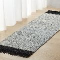 Leather rugs woven carpet floor mat