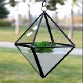 HANGING TERRARIUM BRASS WITH GLASS