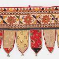 Cotton Ethnic Vintage Embroidered Patchwork Door Valances Toran Window Valances