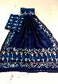Chanderi Silk Top & Dupatta with Cotton Bottom Dress Material