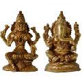 Lakshmi Ganesha Pair OF Brass