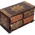 Handmade Wooden Drawers Jewelry Trinket Keepsake Box