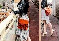Casual Shoulder Bag with Sling Belt Women & Girl's Handbag Brown Leather Bag for Znt Bags