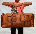 Vintage Handcrafted Leather Duffle Bag Overnight Bag Weekend Bag Leather Gym Sports Cabin Bag