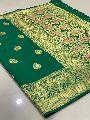 Green Traditional Banarasi Silk Sarees