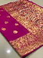 Purple Traditional Banarasi Silk Sarees