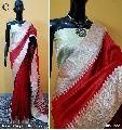 Red Plain Raw Silk Sarees