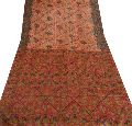 100% pure silk saree multi color printed sari craft fabric
