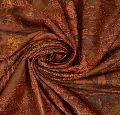 Antique vintage 100% pure silk peach printed craft saree