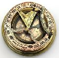 Brass sundial compass with Leather box