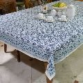 Hand Printed Blue Tablecloth