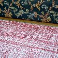 Handwoven Flat Red and White Cotton Runner