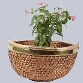 Wicker Planter Basket with Handle