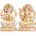 Marble Lakshmi Ganesha Statue