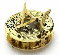 Solid Brass Nautical Sundial & Compass With Hardwood Box LONDON'