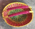 Bamboo Flower Basket with Handle
