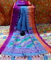 Temple Border Linen Saree