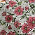 New Fashion Floral Jute Cotton Canvas Fabric