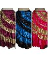 Satin Multi-Colour Gypsy Belly Dance Flamenco Skirt