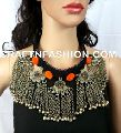 Vintage Beaded Kuchi Tribal old Coin Necklace