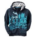 Boys zip up hoodie with graphic