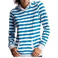 STRIPED PULLOVER HOODY
