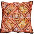 Antique Zari Work Embroidery 100 % Handmade Cotton Cushion Covers