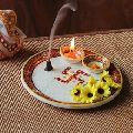 Marble Pooja Thali Plate Handicraft Religious Gift Decor Arts And Crafts