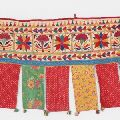Cotton Vintage Embroidered Patchwork Door Valances Toran Window Valances