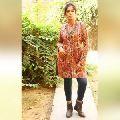 Kantha Jacket Floral Reversible Quilt Women Wear Coat