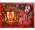 Bright Original handmade Acrylic Canvas Gautam Buddha artistic painting
