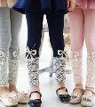 Girls Embroidered Leggings