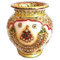 Handcrafted Colorful Marble Vase for Decoration